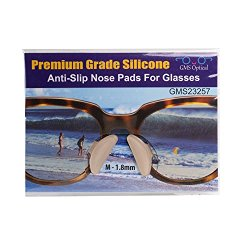 10 Pair Clear – 1.8mm x 17mm Non-Slip Nose Pads for EyeGlasses by GMS Optical – Premium Grade Silicone