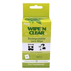 Apothecary Products Wipe and Clear Biodegradable Lens Wipes, 20 Count