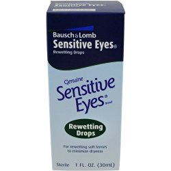 Bausch & Lomb Sensitive Eyes Rewetting  Drops, 1 Ounce Bottle