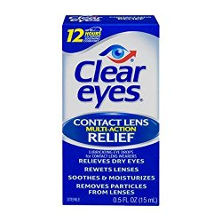 Clear Eyes Contact Lens Relief Soothing Drops, 0.5 fl oz (15 ml)