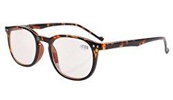 Eyekepper Vintage Computer Glasses-Anti-reflective,Anti-glare,Clear Lens,Uv Protection Men Women Tortoise