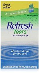 Refresh Tears Lubricant Eye Drops 15 Milliliter (2 Bottles)