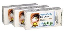 Vision Clarity Carnosine Eye Drops, 3 Box Discount, 23.95 Each, 2 Vials per box, 30 ml Total