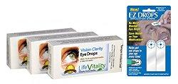 Vision Clarity Carnosine (NAC) Eye Drops with EZ Drops Combo, 3 Box Discount, 23.95 Each, 2 Vials per box, 30 ml Total