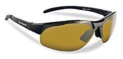 Flying Fisherman Maverick Polarized Sunglasses (Matte Black Frame, Yellow-Amber Lenses)