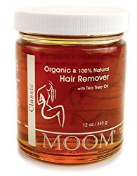 Moom Organic Hair Removal with Tea Tree Refill Jar, 12 Ounce