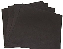 Opti Polishing Cloths: Pkg of 4 – 6″ X 6″ Black