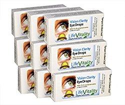 Vision Clarity Carnosine Eye Drops, 9 Box Discount, 21.95 Each, 2 Vials per box, 90 ml Total