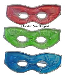 1 Soothing Therapeutic Gel Eye Mask Hot Or Cold with Adustable Strap Random Color Shipped