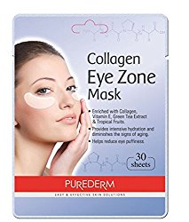 2 Pack 30 Sheets Purederm Collagen Eye Zone Pad Patches Mask Wrinkle Care