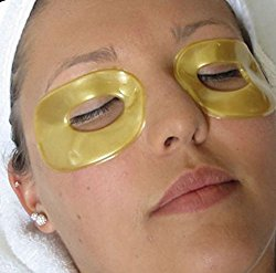 24k Gold Collagen Eye Lifting Eye Patches 5 Pack Mask for Removing and Reducing Dark Circles, Puffy Eyes, Wrinkles & Crow's feet