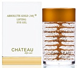 Absolute Gold 24K Lifting Eye Gel – 24 KARAT GOLD, SILK PEPTIDES and HYALURONIC ACID. 1 fl.oz-30 ml. (Fragrance Free, Cruelty Free, Paraben Free, Petroleum Free.)