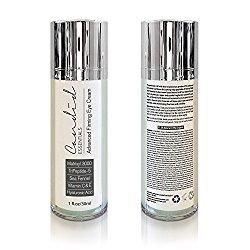 Best Eye Cream – 1oz – Intense Firming Anti Aging Eye Cream – Organic & Natural – Reduces Fine Lines & Wrinkles with Matrixyl 3000, Ocean Based Retinol, Tripeptides, Vitamin C & E – All Skin Types