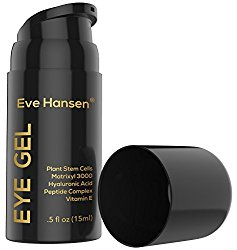 Brilliant EYE GEL by Eve Hansen. Gentle yet Effective for Dark Circles, Puffiness, Wrinkles – SEE RESULTS OR – 100% Vegan and Lightweight Cream with Organic & Natural Anti-Aging Ingredients