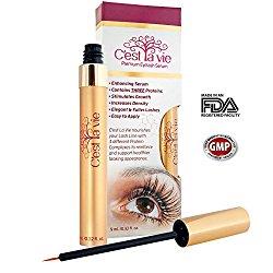 C'est La Vie Premium Eyelash Serum for Growth and Enhancement – Stronger, Longer, Fuller Looking Moisturized and Nourished Lashes (9.0ml/0.32 Fl. Oz)