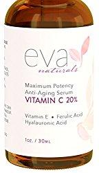 Eva Naturals 20% Vitamin C Serum For Face, 1 Oz