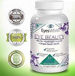 EyesWhite Eye Whitening Beauty Vitamin Supplement- All Natural-