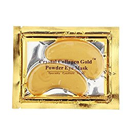 HailiCare Gold Eye Mask Power Crystal Gel Collagen Masks 10 Pairs