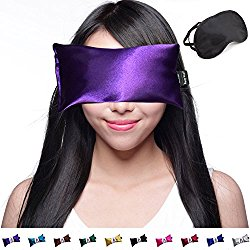 Happy Wraps Hot Cold Lavender Eye Pillow with Eye Mask for Sleep, Amethyst
