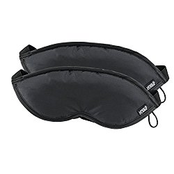 Lewis N. Clark Comfort Eye Mask With Adjustable Straps Blocks Out All Light ,  Black,  One Size