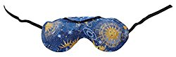 Nature's Approach Aromatherapy Lavender Eye Pillow with Satin Backing Herbal Pack, Celestial Indigo