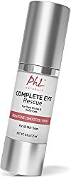 PHL Naturals Complete Eye Rescue Eye Cream for Dark Circles and Puffy Eyes, 0.5 fl. oz.