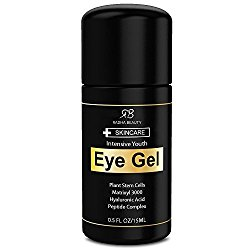 Radha Beauty Eye Cream for Puffiness, Dark Circles, Wrinkles & Bags – The most effective eye gel for every eye concern – All Natural Ingredients – 0.5 fl oz