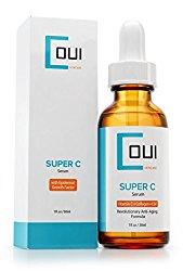 Super Vitamin C Serum – Best Collagen Anti Aging Skin Care for Face and Eyes – EGF + Marine Kelp + Hyaluronic Acid