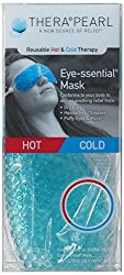 TheraPearl TP-RE1 Reusable Hot & Cold Therapy Eye-ssential Mask, 9 x 2.75-Inch