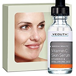Vitamin C Serum For Day with Vitamin E and Hyaluronic Acid Serum, Anti Wrinkle, Fill Fine Lines, Evens Skin Tone, Fades Age Spots, Medical Grade Anti Aging Skin Care Products – YEOUTH