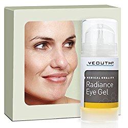 YEOUTH Eye Gel Cream for Anti Aging, Wrinkle Cream, Dark Circles, Puffy Eyes, Eye Bags, Crows Feet, with Hyaluronic Acid Serum and Tripeptide – 100% Guaranteed