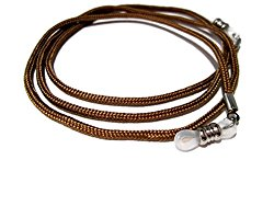 ATLanyards Chocolate Brown Eyeglass Cord, Eyeglass Chain Holder, Clear Pieces 346