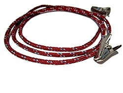 ATLanyards Maroon Paracord Eyeglass Holder with Clips, Clip Eyeglass Lanyard Chain, Clip 308
