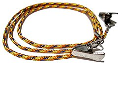ATLanyards Orange Yellow Blue Paracord Eyeglass Holder with Clips, Clip Eyeglass Cord, Clips 327