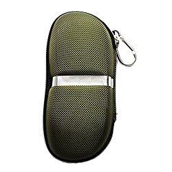 Brave Tour Unisex Large Protective Hard Carrying Case for Oversized Sunglasses Eyeglasses (ArmyGreen)