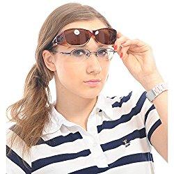 Duco Women's Wraparound Glasses Polarized Sunglasses 8953 Brown