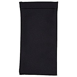 Eyeglass Pouch, Glasses Sleeve With Squeeze Top Closure – Slip In Case & Holder For Sunglasses, Eyewear & Frames For Men, Women & Kids -Black- By OptiPlix