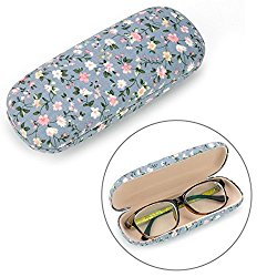EZESO Fabrics Floral Retro Light Portable Eyeglasses Case (B)