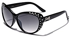 Giselle Kids AGE 6-14 Rhinestone Cat Eye Sunglasses – Black