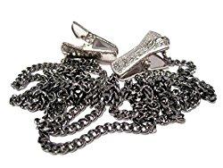 Gunmetal Chain Clip Eyeglass Holder – Glasses Holder Chain with Clip Grips