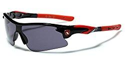 Half Frame Kids Teen Age 8-16 Performance Baseball Cycling Running Sport Sunglasses – Black & Red