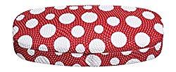 Hard Eyeglass Case, Glasses Holder For Women, Men, Girls, Boys- Polka Dot, Red