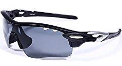 Hulislem Blade Sport Polarized Sunglasses, Smoke – Silver