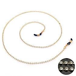 Kalevel Eyeglass Chains Holders Bling Eyeglasses Chains for Women Rhinestones