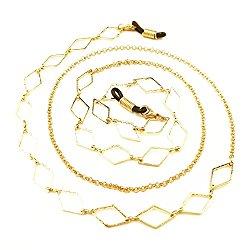 Kalevel Eyeglass Holder Eyeglass Strap Eyeglasses Chain Gold for Women Girls