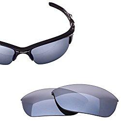 LenzFlip Oakley Half Jacket 2.0 Lens Replacement – Gray Polarized with Chrome Mirror Lenses