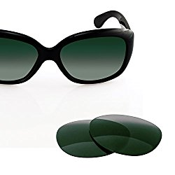 LenzFlip Ray-Ban Jackie Ohh RB4101 (58mm) Replacement Lenses – G15 Green Polarized