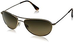 Maui Jim Baby Beach HS245-16 Polarized Aviator Sunglasses,Gold Frame/HCL Bronze Lens,One Size
