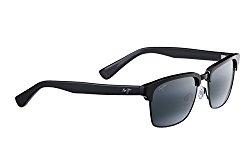 Maui Jim – Kawika – Gloss Black W/ Pewter Frame-Polarized Neutral Grey Lenses