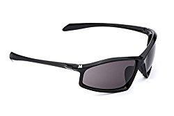 MORR ARRISTOTLE Z65 Sport Sunglasses with Polarized Lenses for Mountain Biking, Cycling, Motorcycle, Shooting, Climbing (Gray Polarized Lens / Black Frame)
